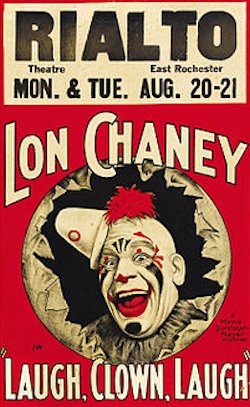 Lach, Clown, lach! - Plakat zum Film