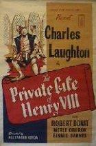 Das Privatleben Heinrichs VIII. - Plakat zum Film