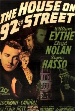 Das Haus in der 92. Straße - Plakat zum Film