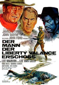 Der Mann, der Liberty Valance erschoß - Plakat zum Film