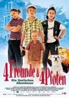 Vier Freunde und vier Pfoten - Ein tierisches Abenteuer - Plakat zum Film