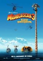 Madagascar 3: Flucht durch Europa - Plakat zum Film