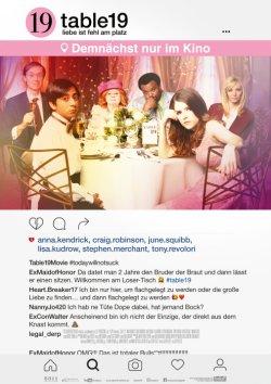Table 19 - Liebe ist fehl am Platz - Plakat zum Film