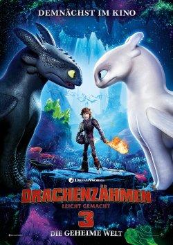 Drachenzähmen leicht gemacht 3: Die geheime Welt - Plakat zum Film