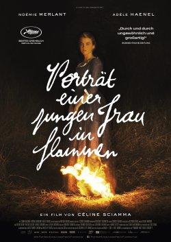 Porträt einer jungen Frau in Flammen - Plakat zum Film